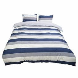 100% Cotton Duvet Covers 3 Piece Bedding Sets, Pillowcases,