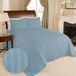 100 percent cotton tufted chenille stripe bedspread
