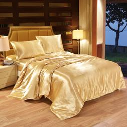 100% Satin Silk Bedding <font><b>Set</b></font> Luxury <font