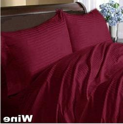1000 TC Egyptian Cotton Cozy Duvet Collection US Sizes Wine