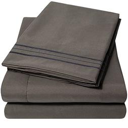 1500 Supreme Collection Extra Soft Queen Sheets Set, Gray -