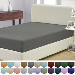 1800 collection microfiber fitted sheet wrinkle fade