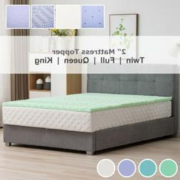 2''/2.5''/3''/4'' Comfort Gel Memory Foam Mattress Topper Tw