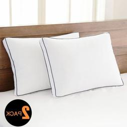 2 Queen Size Goose Down Feather Bedding Pillows 42 oz fill H