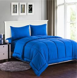 Tache Home Fashion 3-4PCOM-BOXES-Blue-Q Comforter Bed in A B