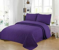 Home Bedding 3-Piece Full/Queen/King Oversize Bedspread Cove
