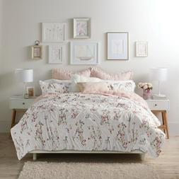 3-Piece King or Full/Queen Oversized Floral Comforter Cotton