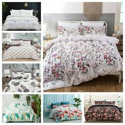 3 Pieces Printed Duvet Cover for Comforter Quilt Cover Beddi