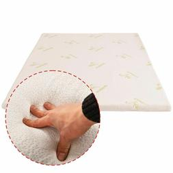 3'' Queen Size Memory Foam Bamboo Cover Mattress Pad Bed Top