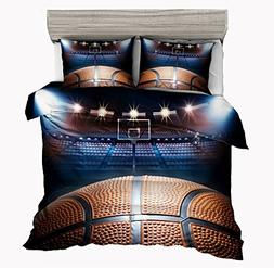 SxinHome Madness in March 3D Basketball Bedding Set for Teen