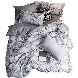 3D Marble Bedding Set Queen Size Pieces Soft Quilt Cover Pri