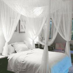 4 Corner Post Canopy Mosquito Net Full King Queen All Size B