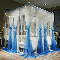 4 corners post canopy bed curtains