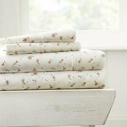 ienjoy Home 4 Piece Sheet Set Patterned, Full, Soft Floral P