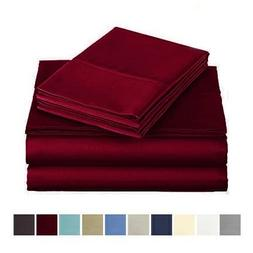 Audley Home 4 Piece 400 Thread Count Luxurious Bedding Set