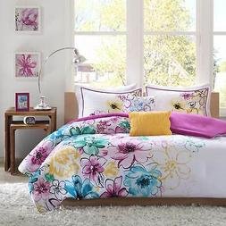 5 Piece Queen Size Comforter Set Bed Bedding Ultra Soft Supe
