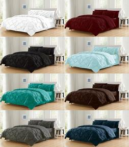 8 Piece Luxury Juliet Pintuck Bed in a Bag Comforter Bedding