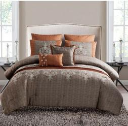 VCNY Home 7pc Comforter Set Queen -Spice