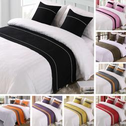 8 Colors! Bed Runner Scarf Protector Slipcover Bedroom Hotel
