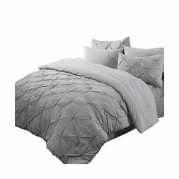 8 piece comforter set bed in a