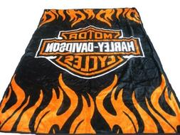 ADB-Harley Davidson New Mink Queen Size Double Side Plush Re