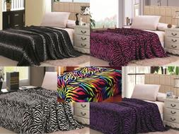 Animal Print Super Soft Luxurious Fleece Throw Blanket Beddi