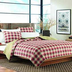 Eddie Bauer Ravena Plaid 3-Piece Cotton Reversible Quilt Set
