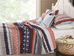 Greenland Home Urban Boho Quilt Set, 3-Piece Full/Queen