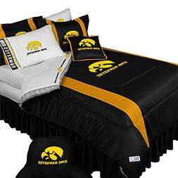 NCAA Iowa Hawkeyes - 5pc BED IN A BAG - Queen Bedding Set