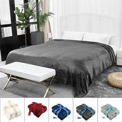 Plush Fleece Blanket Soft Warm Throw Blanket Sofa Bed Home T