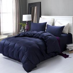 Queen Size New Design Egyptian Comfort Navy Blue Bedding She