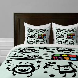 Deny Designs  Andi Bird Waz Up Duvet Cover, Queen