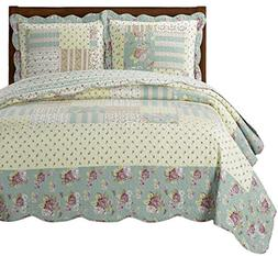 "Annabel Full/Queen Size, Over-Sized Quilt 3pc set 92x96"", Lu"
