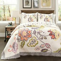 Aster 3-Piece Quilt Set by Lush Decor