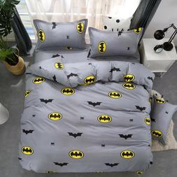 Batman 2/3pcs Duvet Cover Set Queen Twin Size Bedding Set Pi