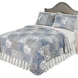 beautiful reversible alice floral patchwork quilt bedding