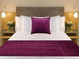Bed Runner Square pillow cover Purple Plum Bed Scarf Twin Qu