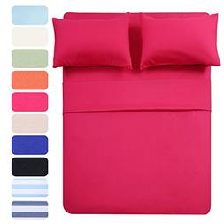 4 Piece Bed Sheet Set  1 Flat Sheet,1 Fitted Sheet and 2 Pil