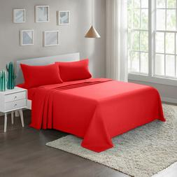 Bed Sheet Set 4-Piece Twin Full Queen King Brushed Microfibe