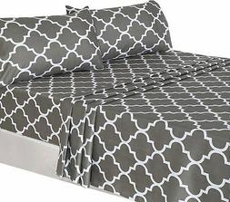 Utopia Bedding 4-Piece Bed Sheet Set  - 1 Flat Sheet, 1 Fitt
