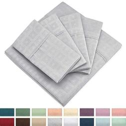Cosy House Collection Elegant Pattern Embossed Bed Sheet Set