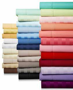 Bedding Collection Egyptian Cotton Solid/Striped Select Colo