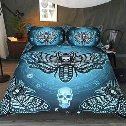 Bedding Set Duvet Cover Butterfly Death Moth Bedclothes Home