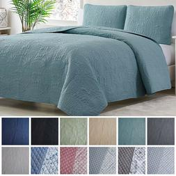 Mellanni Bedspread Coverlet Set 3-Piece Oversized Bed Cover,