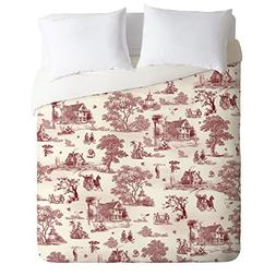 Deny Designs Belle13 Vintage Sunday Afternoon Duvet Cover, Q