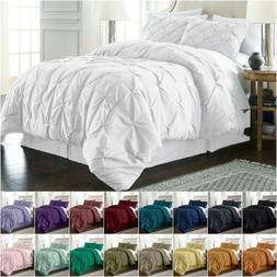 Chezmoi Collection Berlin Pinch Pleat Pintuck Bedding Comfor