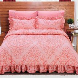Beverly Coral Bedspread Set New Girls Home Coverlets Bedding