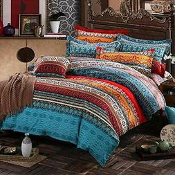 Bohemian Duvet Cover Sets Bedding 4-Piece Queen Size Home ""