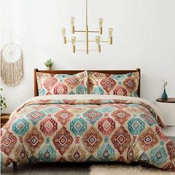 Bedsure Bohemian Duvet Cover Twin Queen King Size with Zippe