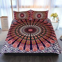 Sleepwish Boho Chic Mandala on Red White Green Bohemian Gyps